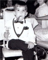 when i was 8 years old acting like George Burns.